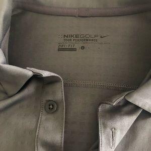 Grey Nike Golf Shirt Large